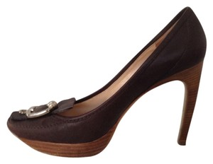 Céline Brown Leather Pumps