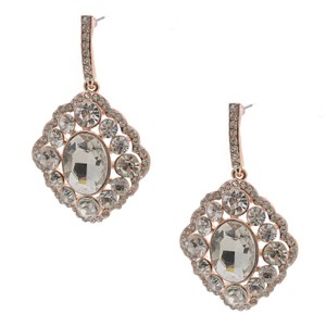 Rose Gold Art Deco Bridesmaid Earrings
