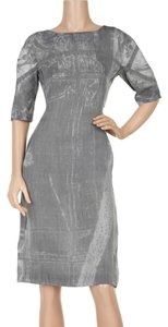 Marni short dress Grey Silk Kneelength on Tradesy