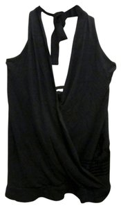 Ben Sherman Velour Detail Black Halter Top