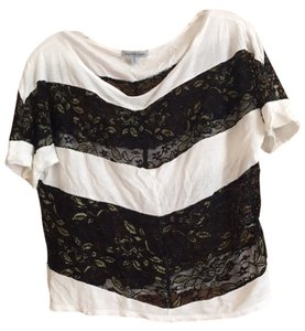 Charlotte Russe Top Black, white, gold