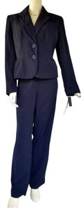 Larry Levine NWT SIGNATURE LARRY LEVINE Navy Lime Pantsuit Pants Suit 14