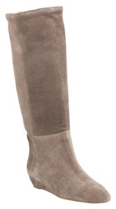 Loeffler Randall Suede Shearling Taupe Boots