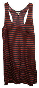Joie short dress Multi Silk Striped Blue And Red Mini Sleeveless on Tradesy