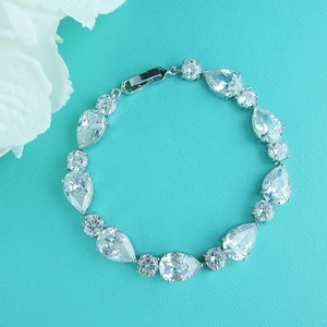 A.a.a.a.a. Cz Pear Shaped Bracelet