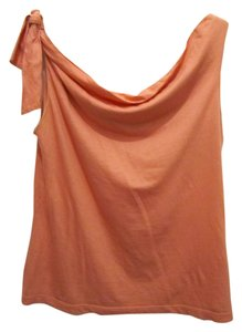 Odille Anthropologie Off The Shoulder Tie Top Coral