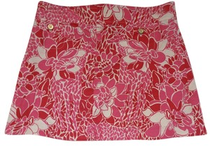 Lilly Pulitzer Corduroy Mini Skirt Pink