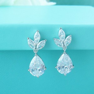 A.a.a. Cz Pear Shaped Drop Earring