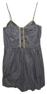 Pins and Needles short dress Blue Thin Straps Button Detail A-line Urban Outfitters on Tradesy