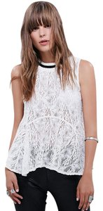 Free People Lace Night Out Top White