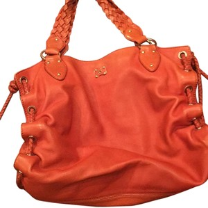 Michael Kors Orange Leather Satchel Shoulder Bag
