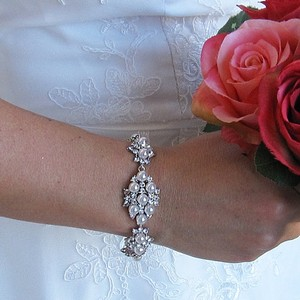 A.a.a. Cz And Pearl Bracelet