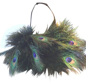 One Of A Kind Feather Shoulder Bag
