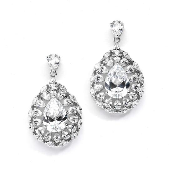 Silver/Rhodium Hollywood Glamour Crystal Earrings