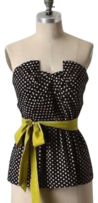 Item - Black with Blush Polka Dots and Lime Sash Odille Winged Victory Halter Top Size 2 (XS)