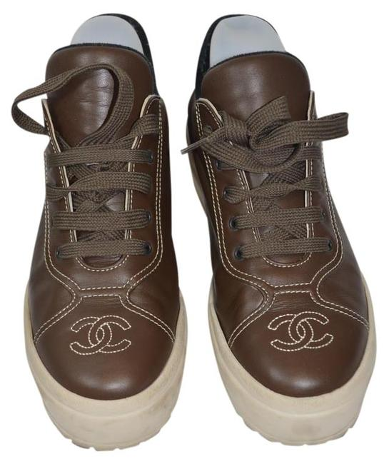 Item - Brown Box Leather with Eti Sneakers Size US 7 Regular (M, B)