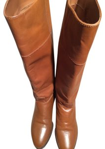 Calico Leather Riding Flats 7.5 Brown Boots