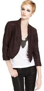 Rachel Roy Coffee Leather Jacket