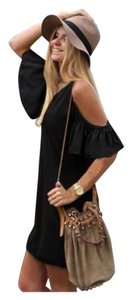 Other short dress Black Tunic Boho Off Cold Beach Pool Coverup Oversize Relaxed Gypsy Free People Anthropologie Hippie Weekend Vacation Fun on Tradesy