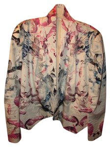 Rebecca Minkoff Floral Watercolor Collarless Blazer