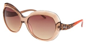 Just Cavalli Women's Butterfly Peach Cheetah Print Sunglasses