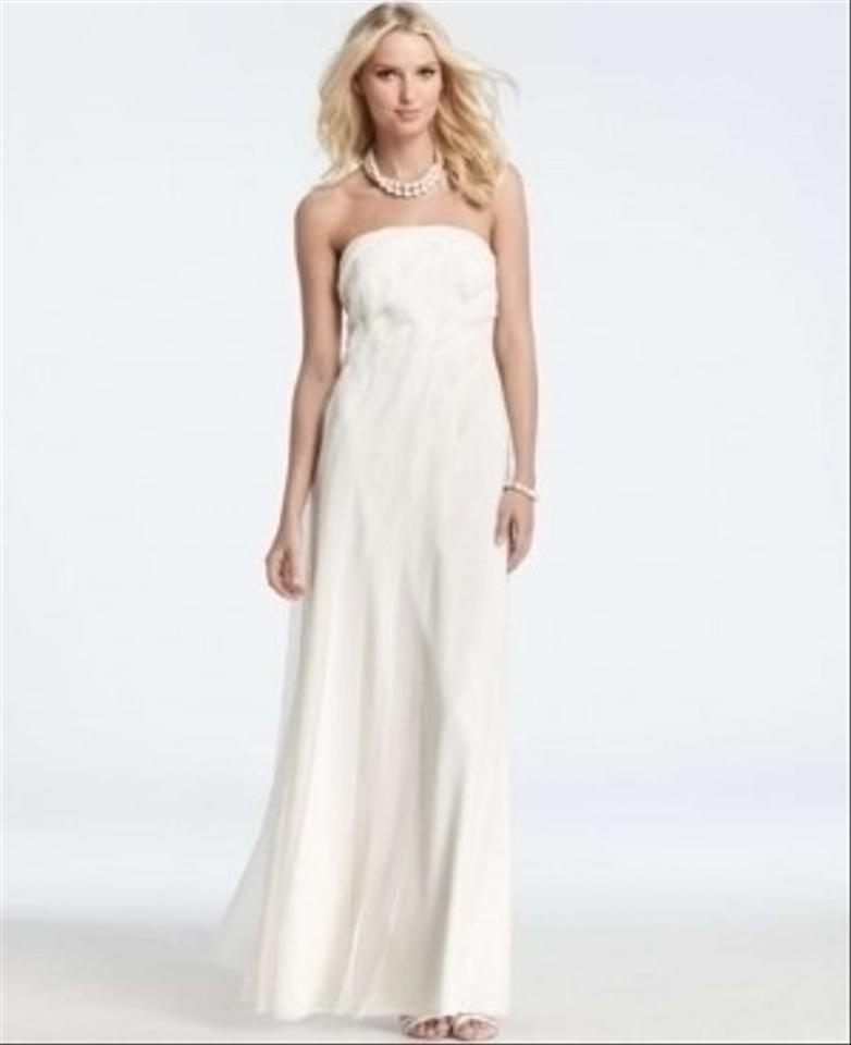 Ann taylor juliet strapless silk gown wedding dress for Wedding dresses ann taylor
