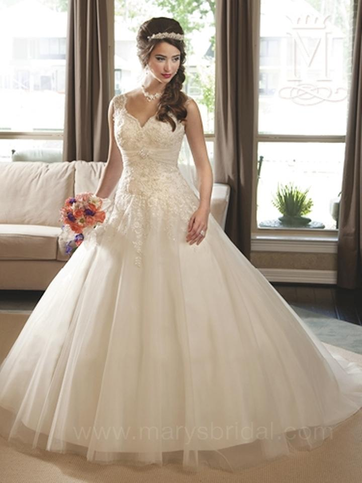 Mary\'s Bridal Ivory / Multi Lace and Tulle P.c. 6205 Feminine ...
