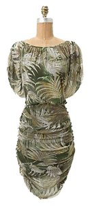 Anthropologie short dress Green/ Palm Frond Print on Tradesy