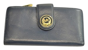 Michael Kors Navy Blue Contiental Leather Wallet