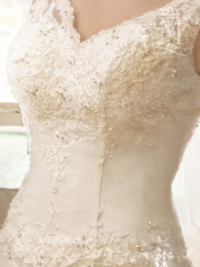 Mary's Bridal Ivory / Multi Re-embroidered Lace/Tulle P.c. 6226 Formal Dress Size 10 (M)