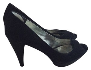 Style & Co Black suade Platforms