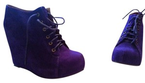 Jeffrey Campbell Wedge Shoe purple Boots