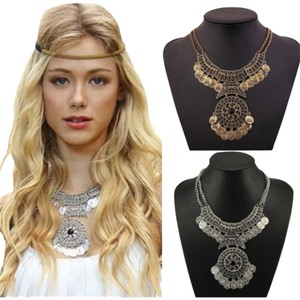New With Tags Boho Chic Medallion Necklace