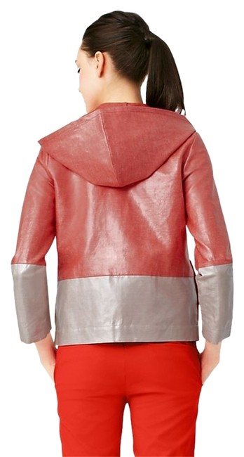 Kate Spade Red Colorblock Rain Hoodie Coat Size 2 (XS) Kate Spade Red Colorblock Rain Hoodie Coat Size 2 (XS) Image 1