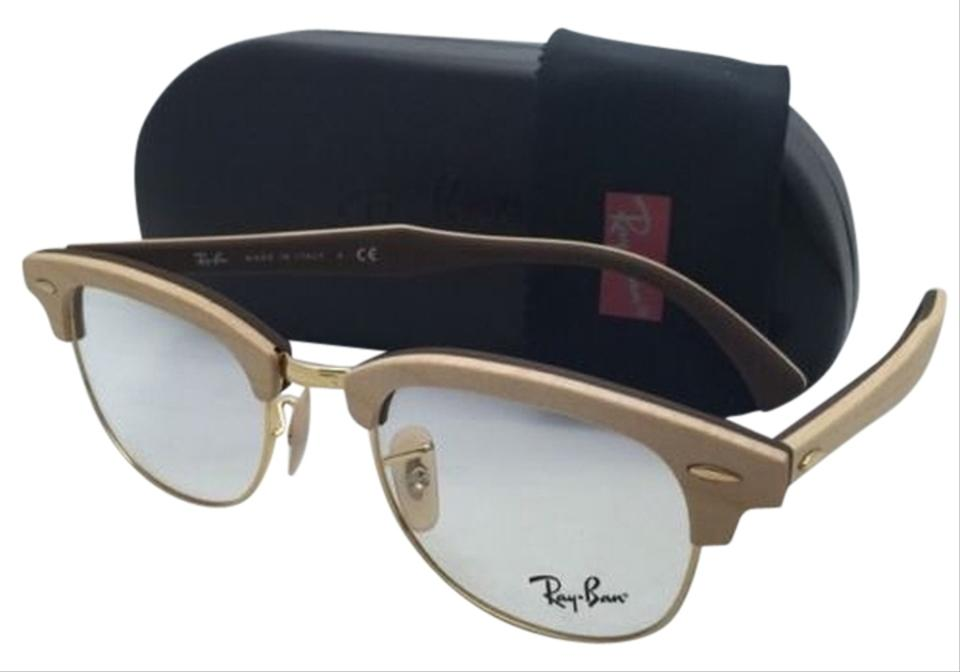 Ray-Ban Rb 5154-m 5558 Maple Wood On Brown Frames New Clubmaster Rx ...