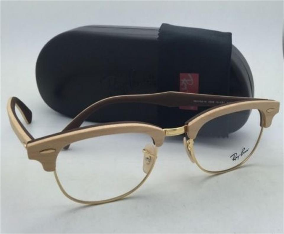 Ray Ban Rb 5154 M 5558 Maple Wood On Brown Frames New