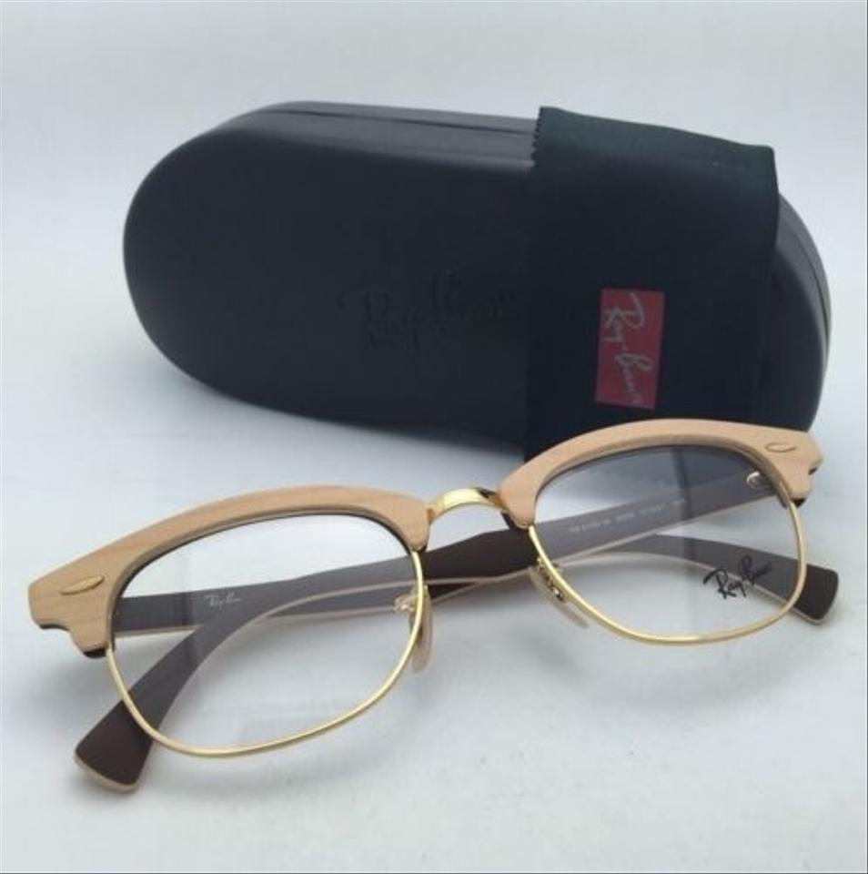 e61c68a8701 Ray-Ban Rb 5154-m 5558 Maple Wood On Brown Frames New Clubmaster Rx