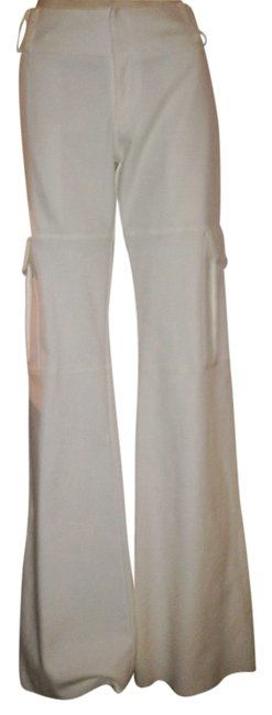 Item - White Flare Fit Pants Size 4 (S, 27)