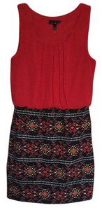 by&by short dress Red with blue, white, black, and yellow accents on Tradesy