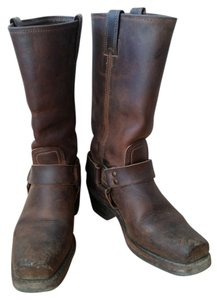 Frye Harness Cowboy Western Tan/Brown Boots