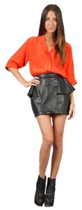 Naven Silk Crop Top Orange