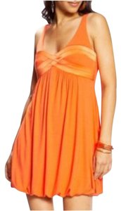 bebe short dress Orange Cocktail Tank Tank Hem Hem Hem Hem Xxs Xxs Xxs on Tradesy