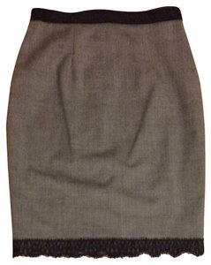 Rebecca Taylor Skirt Pale Heather Grey