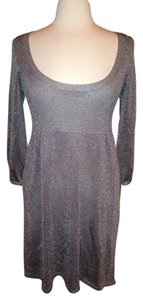 White House | Black Market Silver Metallic Stretch Size L Whbm Dress
