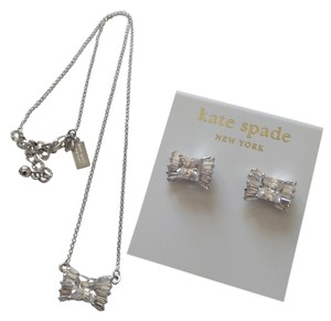 Kate Spade Kate Spade Bow Earring & Necklace Set