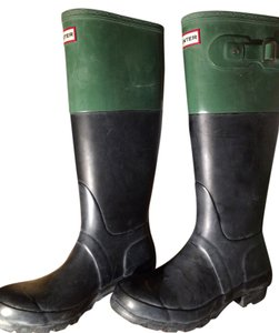 Hunter Black and Green Boots