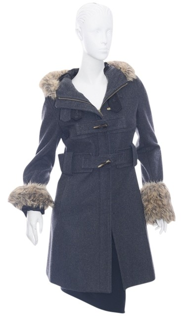 Item - Gray Elevenses Women's Wool Blend Faux Hooded (4294) Coat Size 2 (XS)