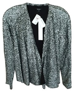 Funktional Sequin Jacket New Years Eve Top Silver, black lining