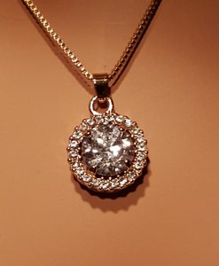 Gorgeous Gold Plated Cz Necklace
