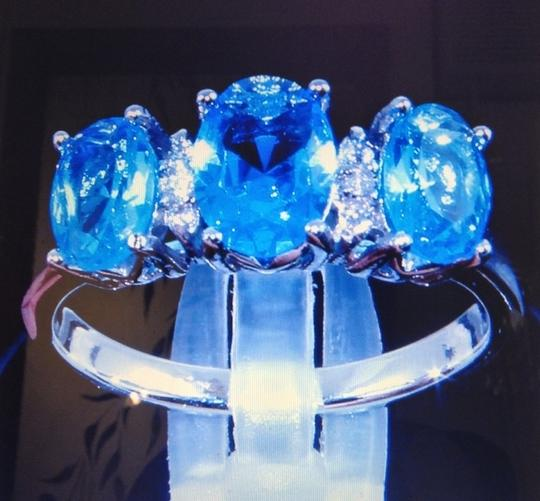 Other Silver Blue Sapphire Ring